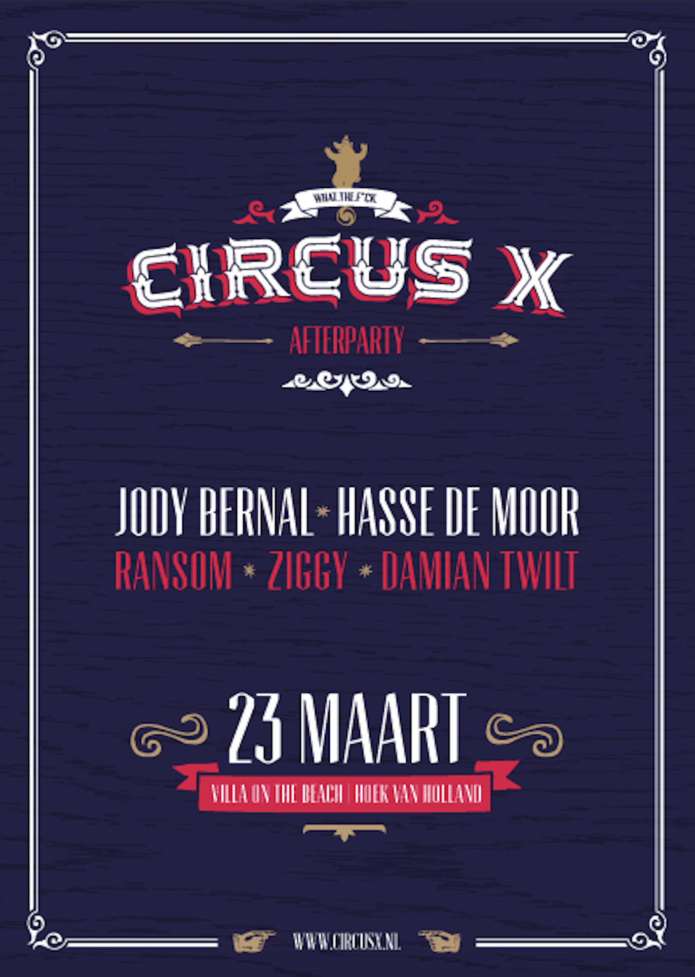 Circus X Afterparty – 23 maart 2019