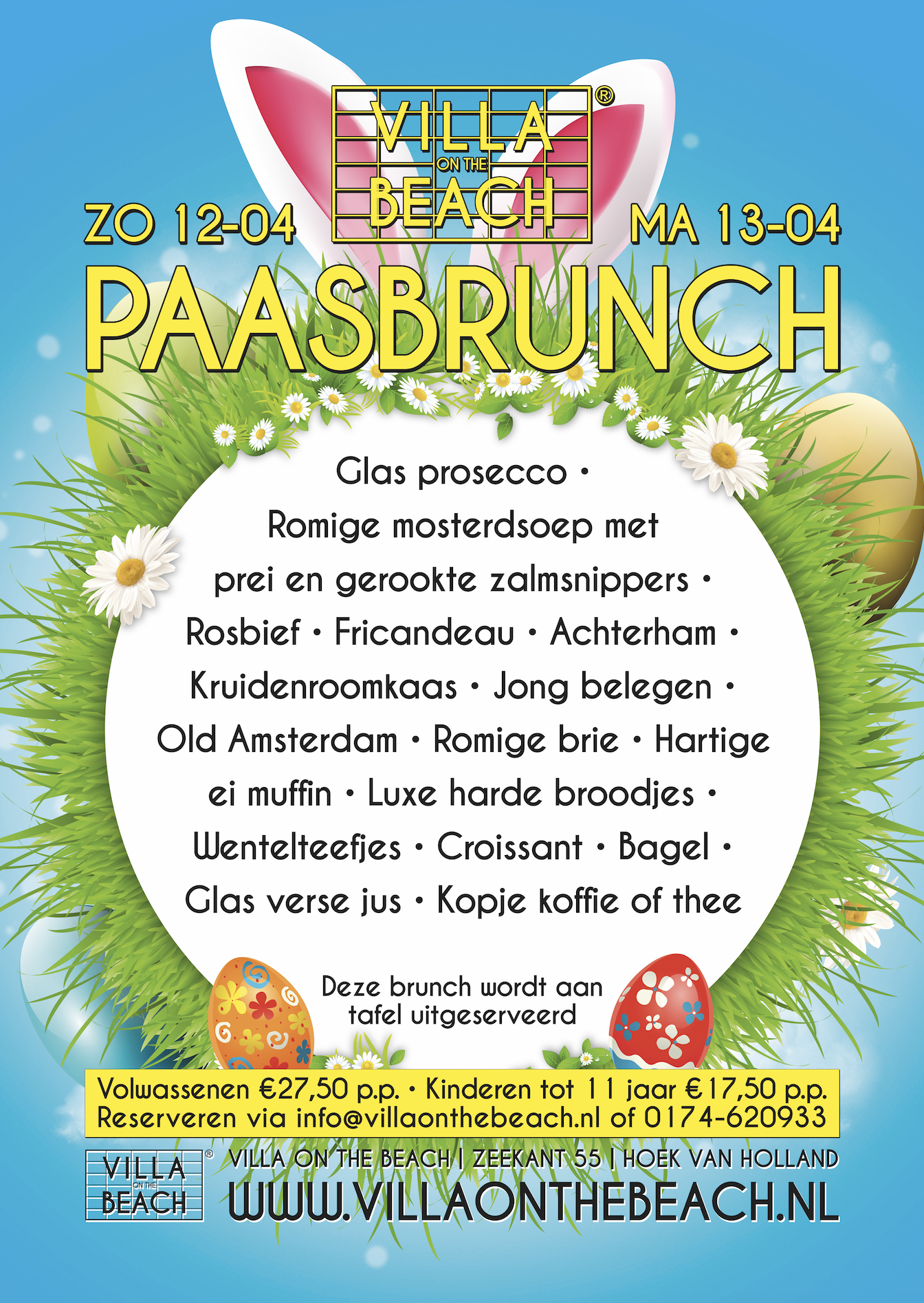 Paasbrunch – Zondag 12 april